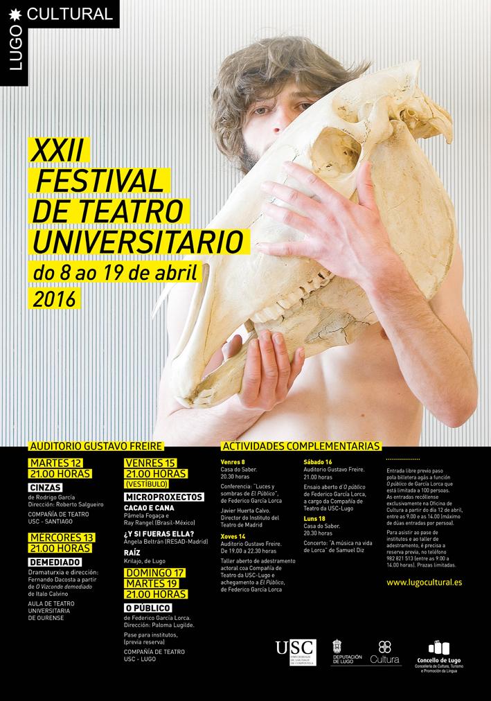 XXII Festival de Teatro Universitario da USC 2016
