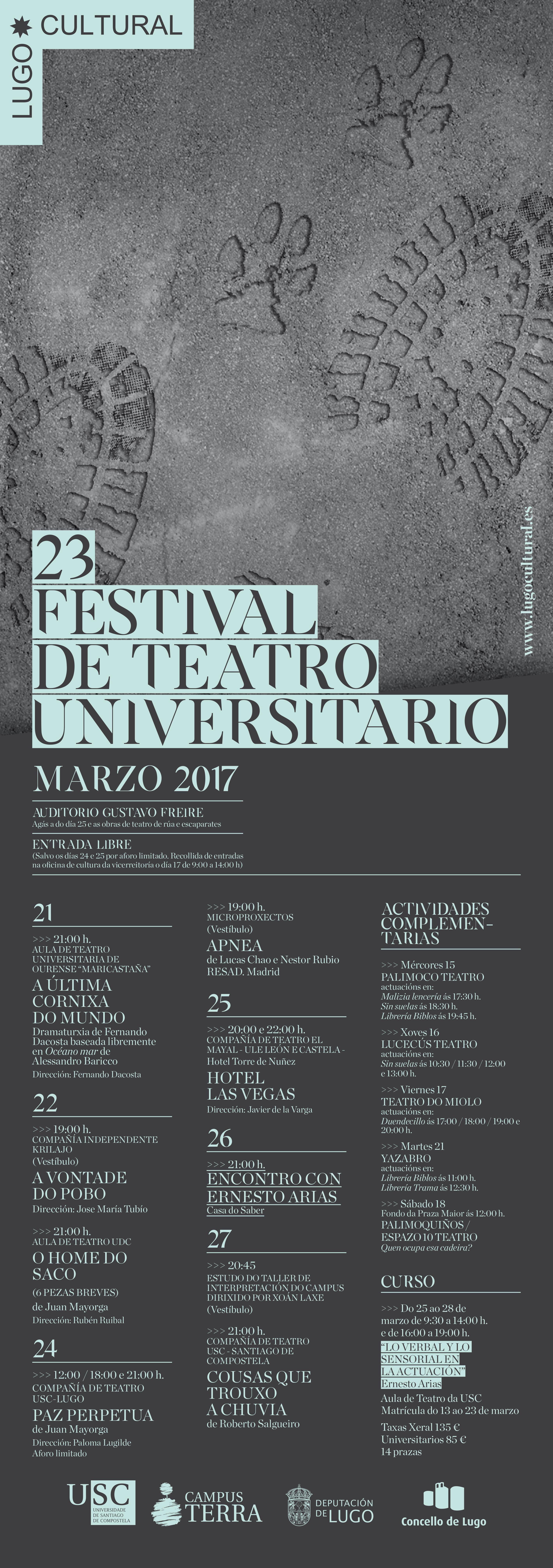 23 Festival de Teatro Universitario da USC 2017